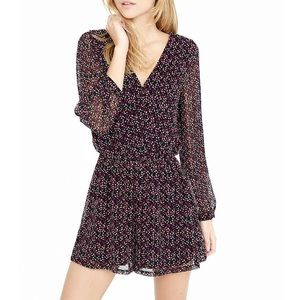 Express Abstract Print Long Sleeve Romper